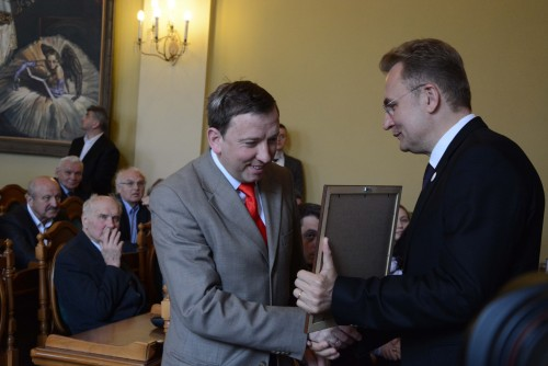 Our founder receives an award from the mayor of Lviv