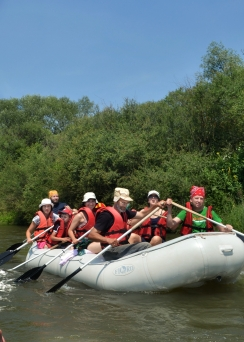 Rafting on the Dnister and unknown Frankivsk Region